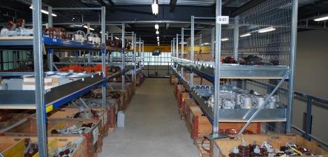 Agencement d'ateliers et d'entrepôts étagère à palettes